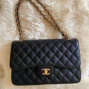 Chanel classic CF diamond chain bag